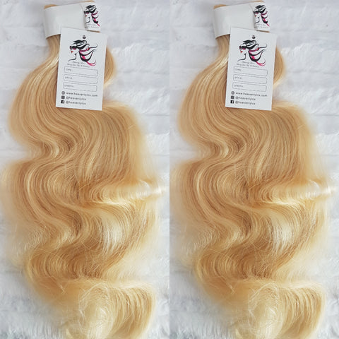Luxe Blonde Wavy SINGLE DONOR Bundles (extensions) - Heavenly Lox