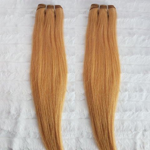 Luxe Strawberry Blonde Straight SINGLE DONOR Bundles (extensions) - Heavenly Lox