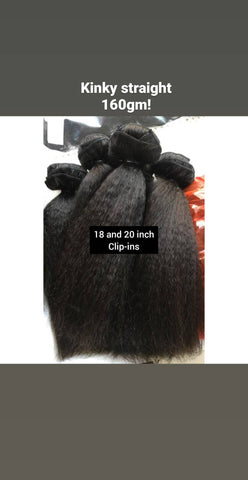 18 inch Afro Luxe Blowout CLIP-INS (160 gm)
