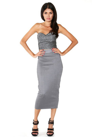 Luxe Bandage Midi Skirt - Heavenly Lox