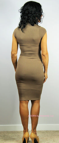 Kyli bodycon Dress (Cocoa) - Heavenly Lox