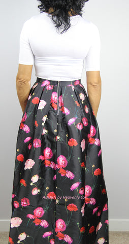 Rose full length skirt - Heavenly Lox
