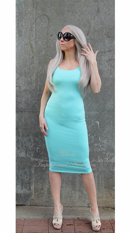 Seafoam Bodycon Tank dress - Heavenly Lox