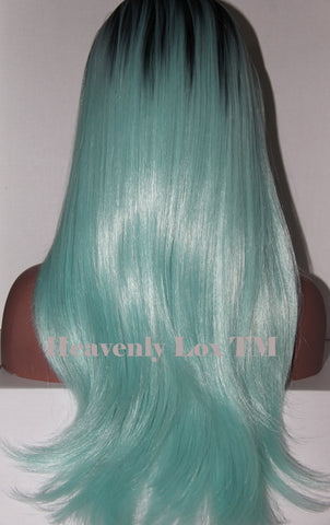 Synthetic Sky Blue Ombre - Heavenly Lox