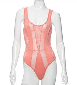 We Mesh Bodysuit (CORAL) - Heavenly Lox