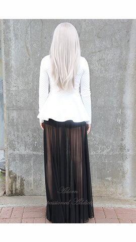 You See Right Thru Me Maxi Skirt (black) - Heavenly Lox