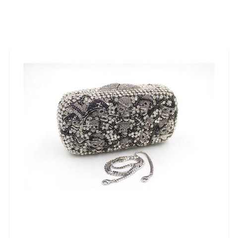 Skull evening clutch bag