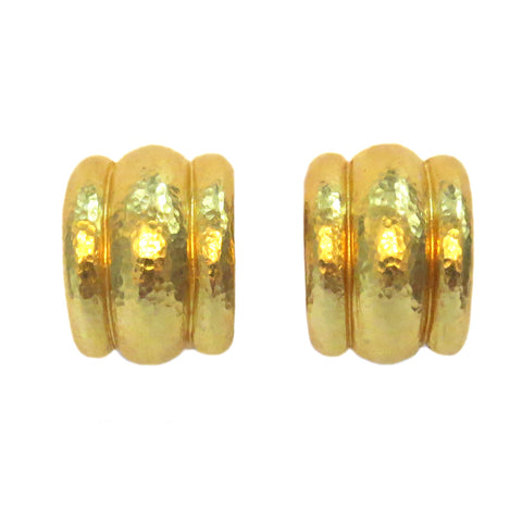 Elizabeth Locke Amalfi Gold Earrings