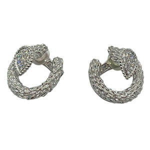 Boucheron Serpent Boheme Diamond White Gold Earrings
