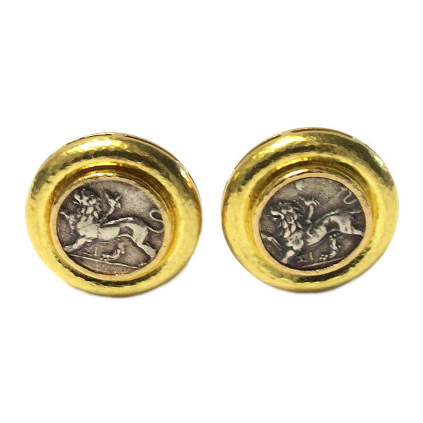 Elizabeth Locke Gold Coin Earrings