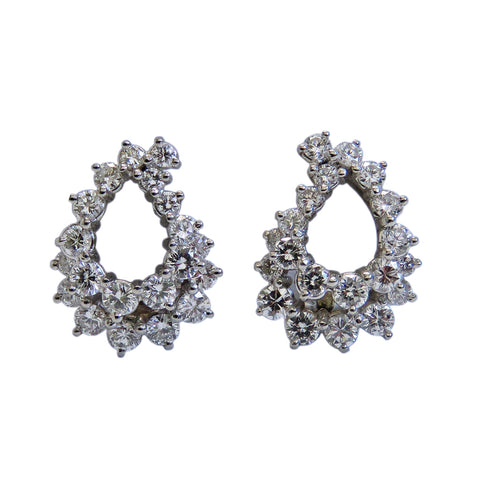 Angela Cummings Platinum 2ct Diamond Earrings