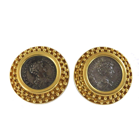 Elizabeth Locke Gold Ancient Coin Earrings