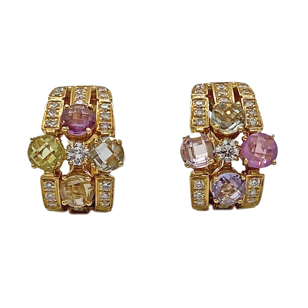 Bulgari Allegra Gold Diamond Sapphire Earrings