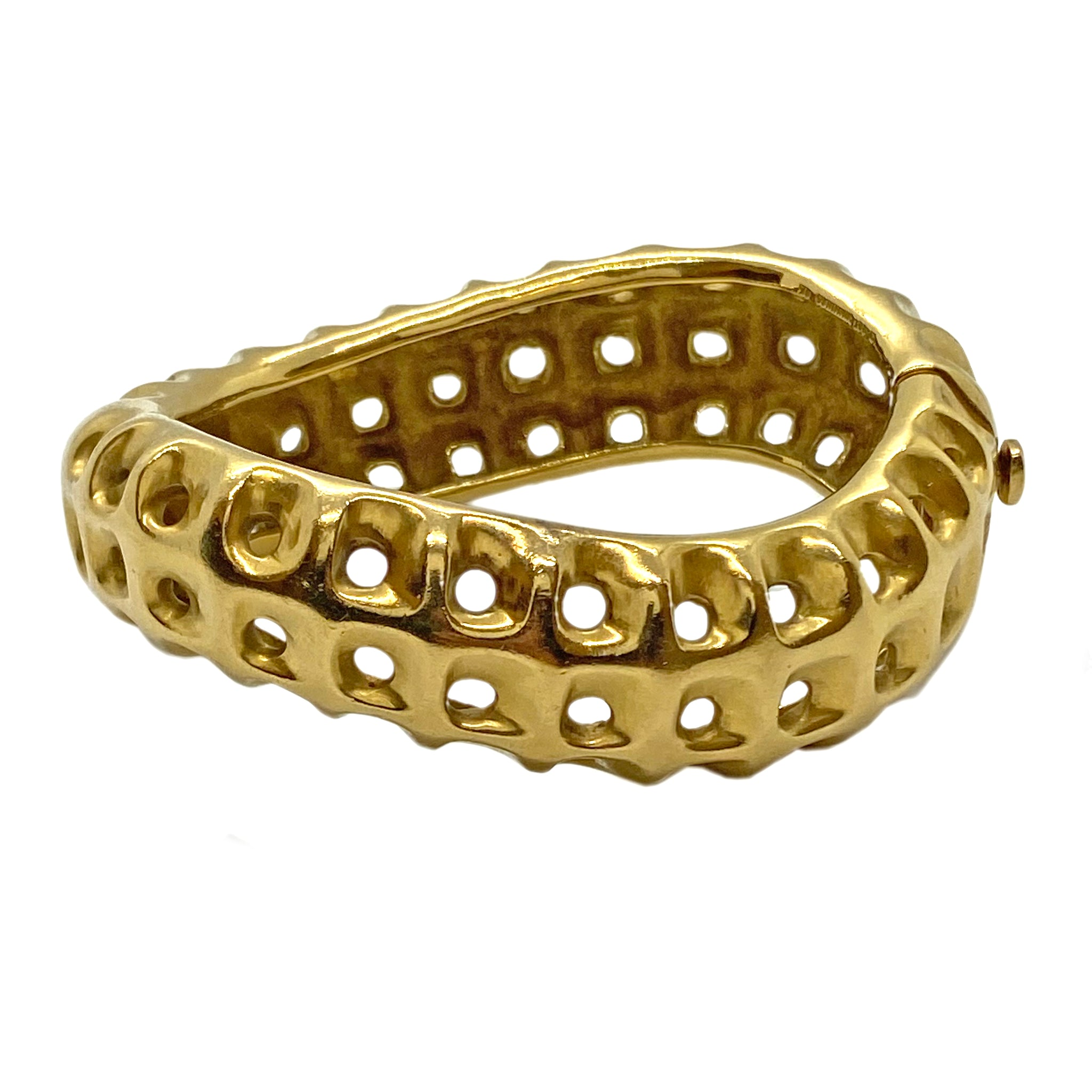 Angela Cummings Gold Honeycomb Bracelet