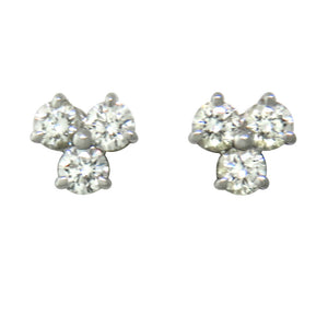 Tiffany & Co Aria Collection Platinum Diamond Earrings