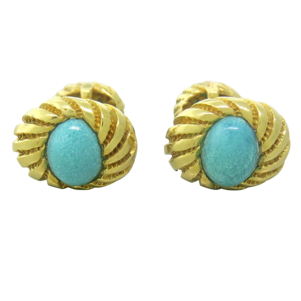 Tiffany & Co Jean Schlumberger Turquoise Cufflinks