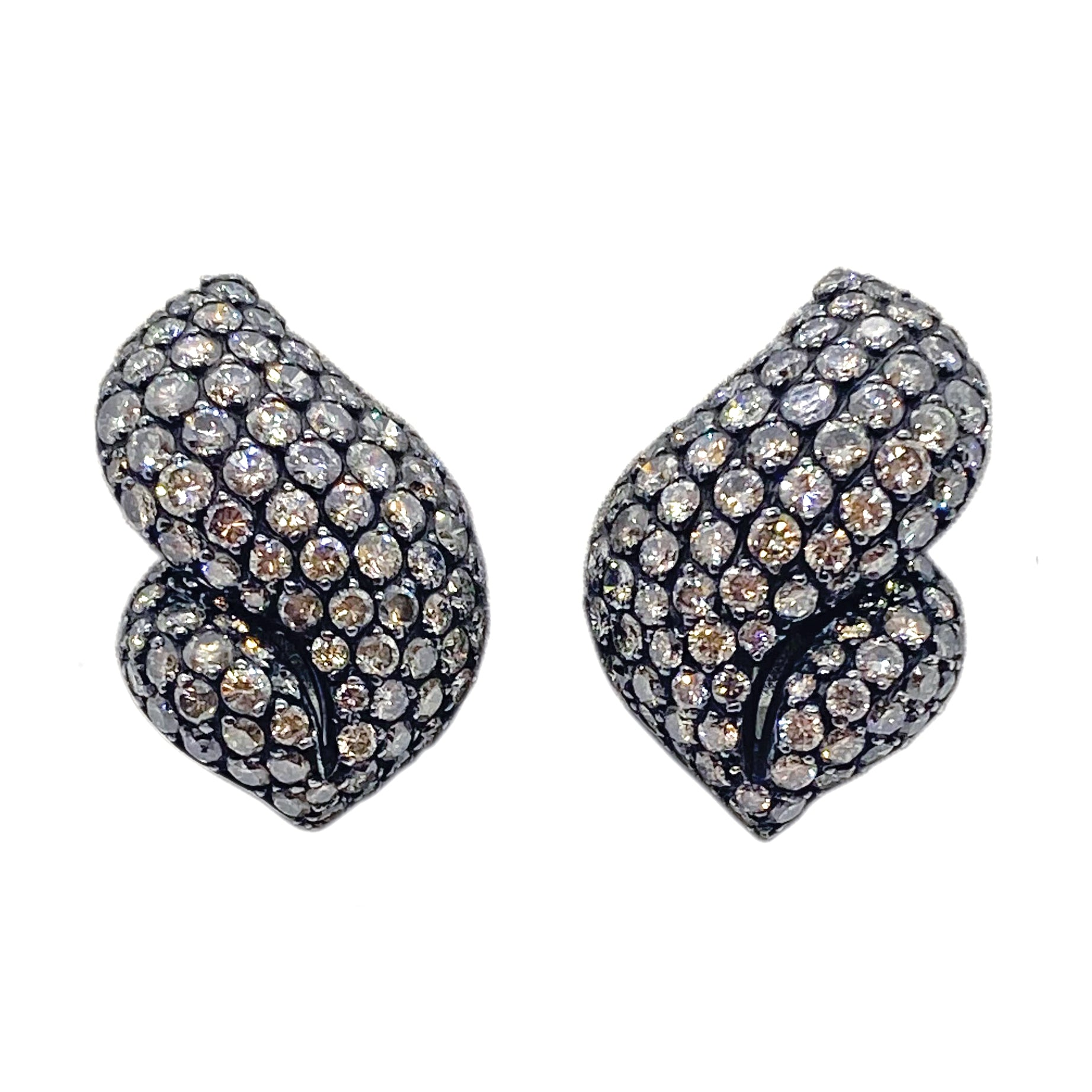 Gioia France Gold 6 Carat Diamond Earrings