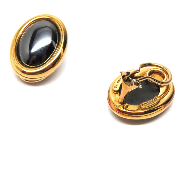 Tiffany & Co. Angela Cummings Gold Hematite Earrings