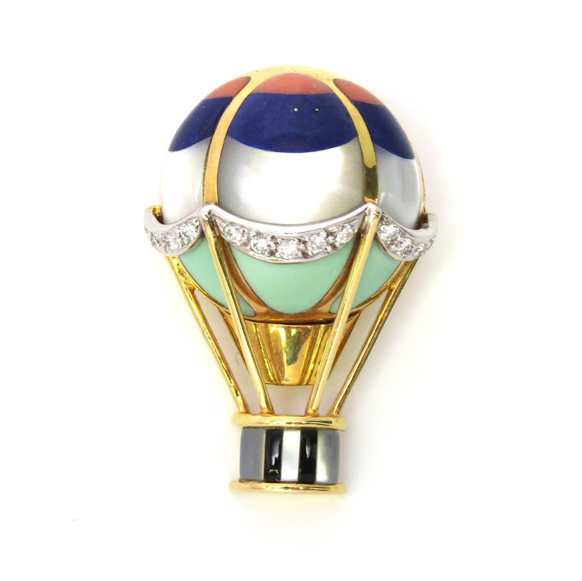 Asch Grossbardt Hot Air Balloon Brooch