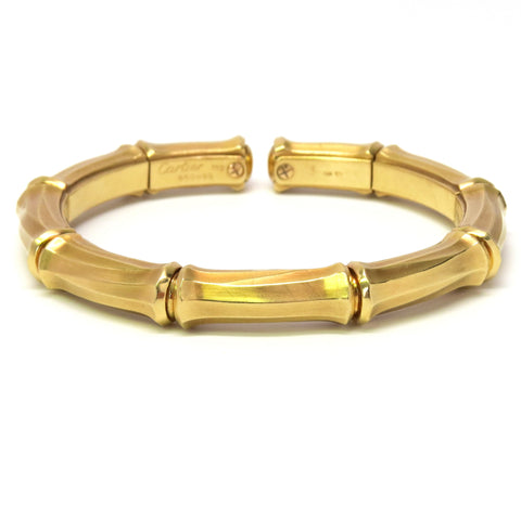 Cartier Bamboo Collection Gold Cuff Bracelet