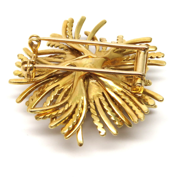 Tiffany & Co Anemone Gold Diamond Brooch Pin