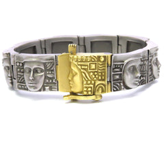 Kieselstein Cord Women of the World Gold Art Steel Bracelet