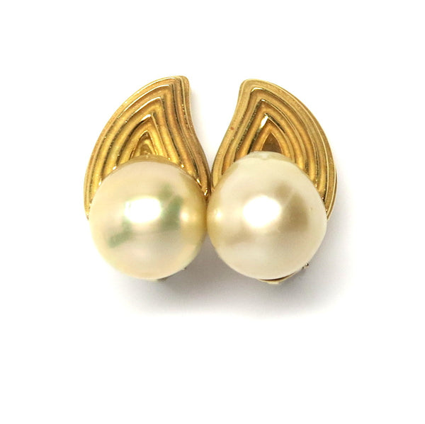 Christopher Walling Pearl Diamond Earrings