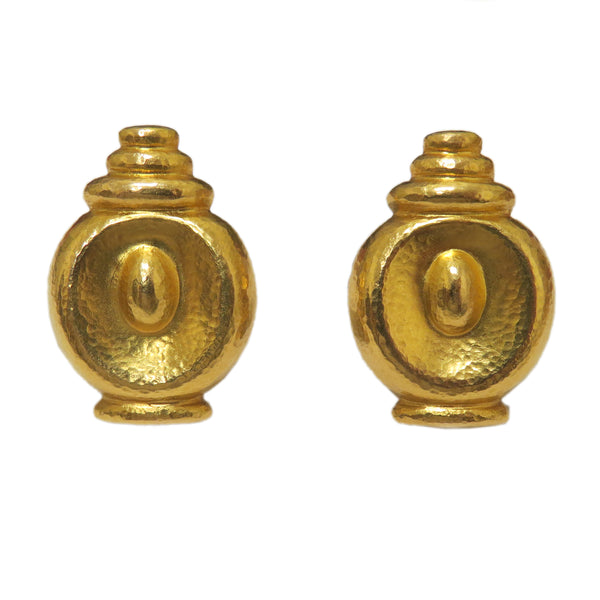 Ilias Lalaounis Gold Earrings