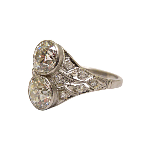 Antique Art Deco Platinum 3 Carat Diamond Ring