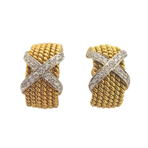 Tiffany & Co Schlumberger Rope Six Row Diamond Earrings