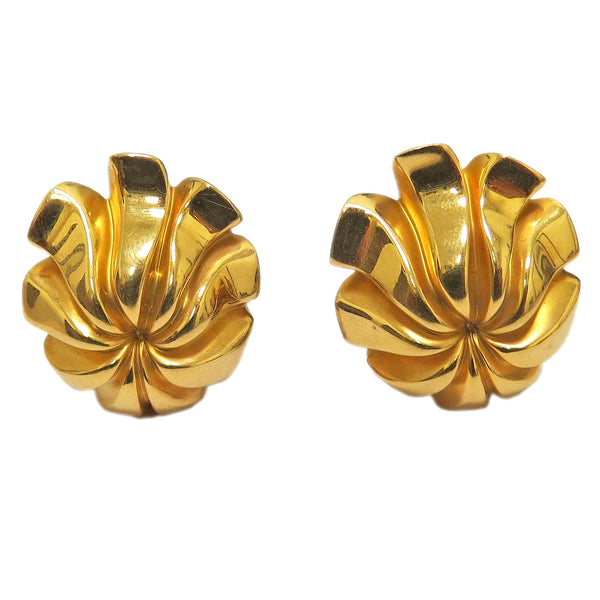 1970s Tiffany & Co Gold Flower Earrings