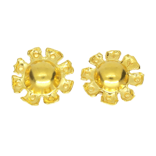 Jean Mahie Gold Sun Earrings