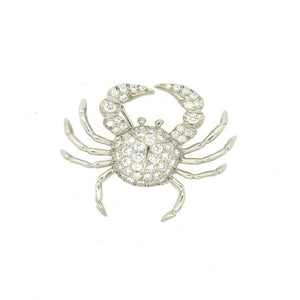 Tiffany & Co Platinum 1.10ctw Diamond Crab Brooch Pin Pendant
