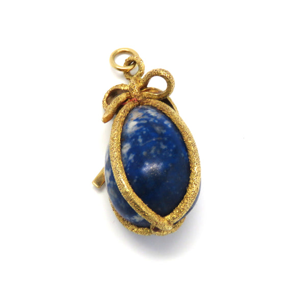 Tiffany & Co Schlumberger Gold Sodalite Charm Pendant