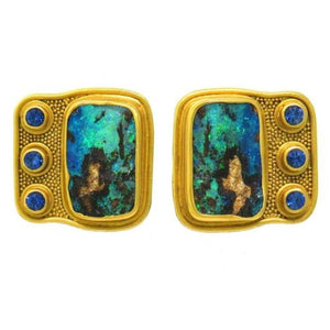 Reinstein - Ross Gold Opal Sapphire Mayan Wings Earrings
