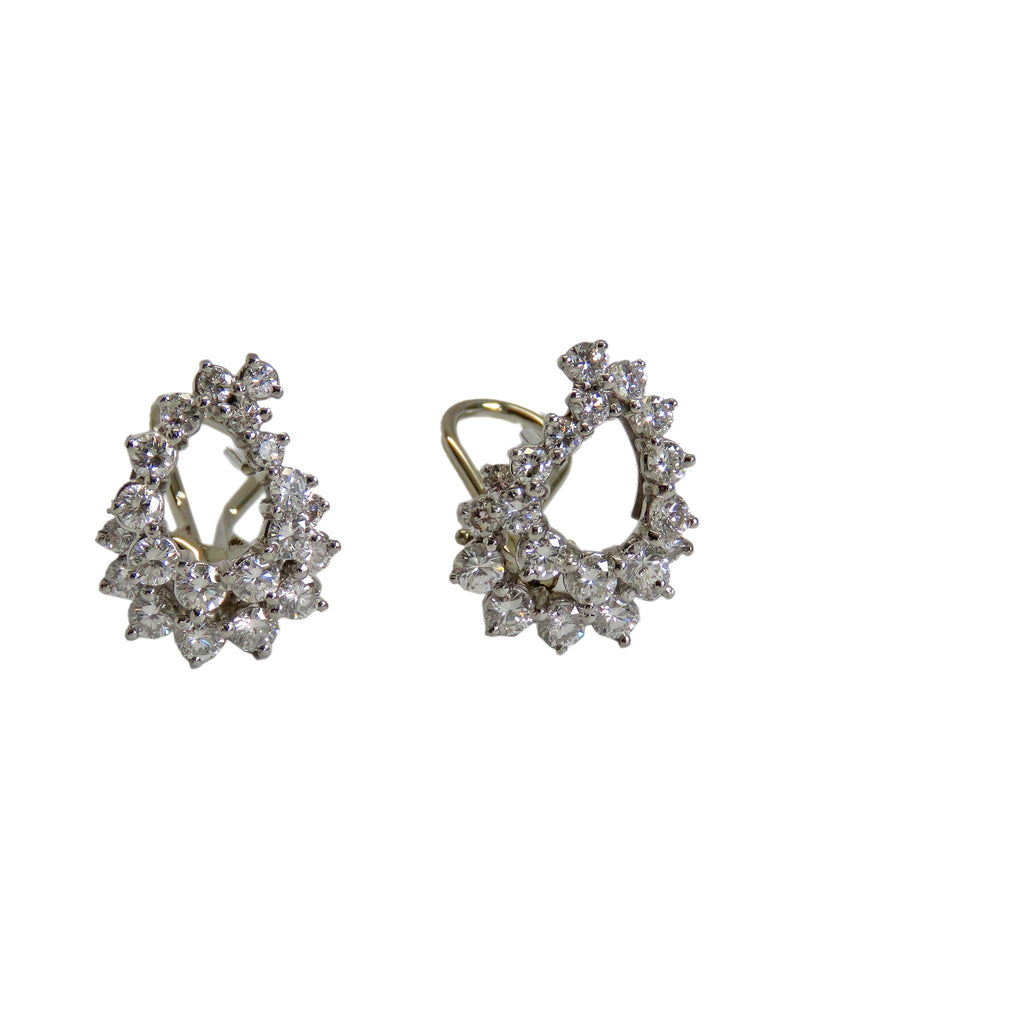 w white p tw in diamond t solitaire ct v earrings stud gold