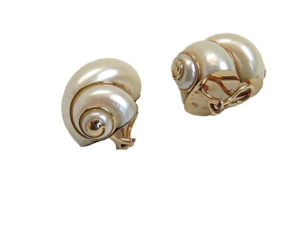 Maz Gold Shell Earrings
