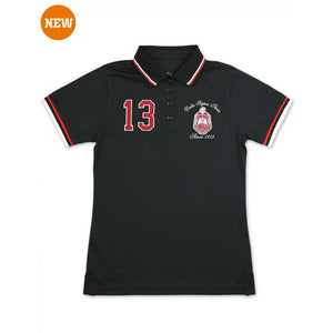 DELTA SIGMA THETA  POLO SHIRT (Black)