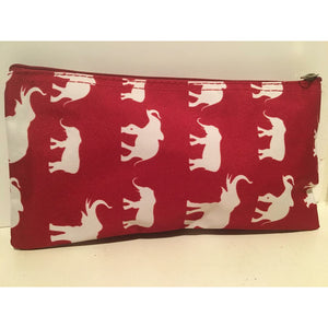 Delta Sigma Theta Inspired: Red Elephant Cosmetic Bag