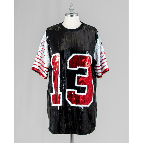 Delta Sigma Theta Inspired Sequin Jersey 13