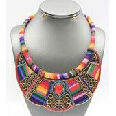 Ethnic Fabric Necklace