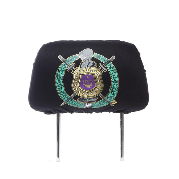Omega Psi Phi Black Headrest
