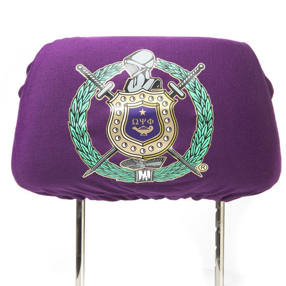 Omega Psi Phi Car Seat Headrest Cover