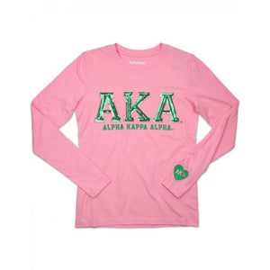 Alpha Kappa Alpha Sequin Greek Letter Shirt