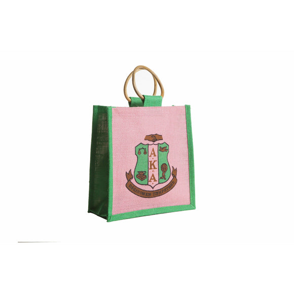 Alpha Kappa Alpha Mini Jute Bag