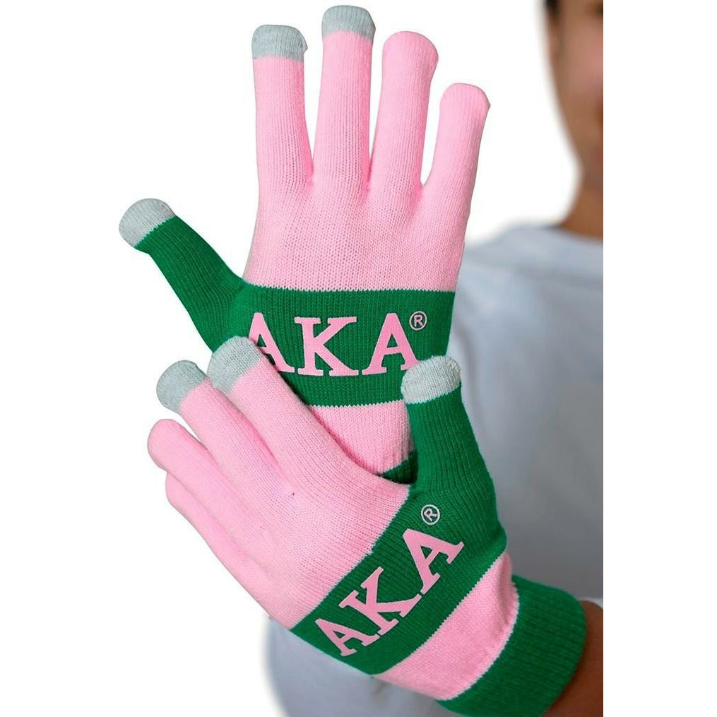Alpha Kappa Alpha Texting Gloves