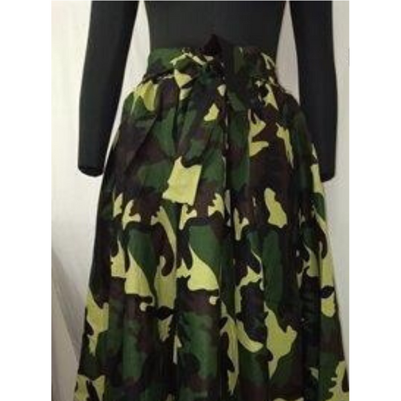 Green Camouflage Skirt