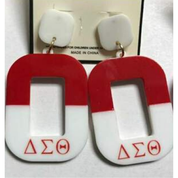 Delta Sigma Theta  Greek Letter Earrings