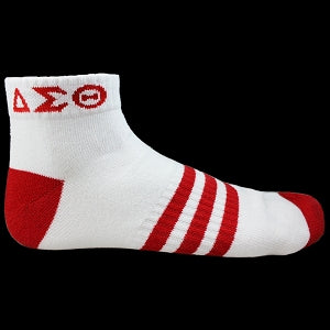 Delta Sigma Theta  Ankle Socks ( Red & White)