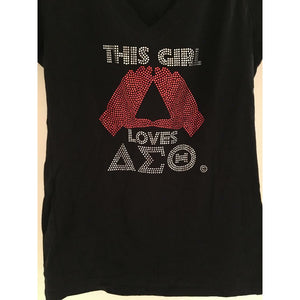 DELTA SIGMA THETA SHIRT: THIS GIRL LOVES DST